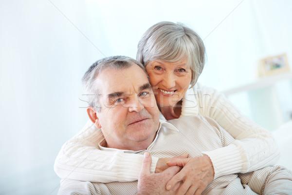 Szerető boldog portré idős pár nő átkarol Stock fotó © pressmaster