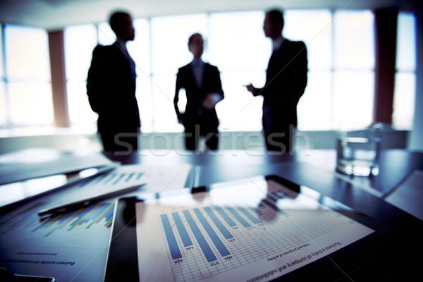 Planification financière collègues avenir financière plans Photo stock © pressmaster