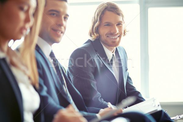 студентов семинара деловые люди сидят Focus Сток-фото © pressmaster