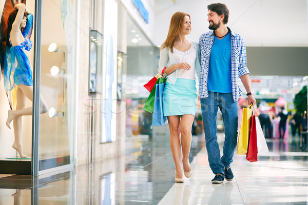 Couple of shoppers Stock photo © pressmaster