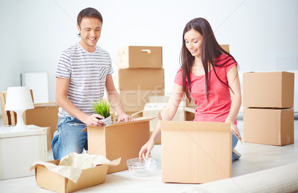 Couple in a new flat Stock photo © pressmaster