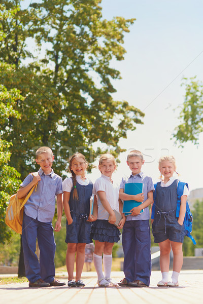Happy schoolchildren Stock photo © pressmaster