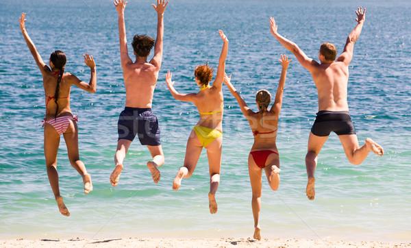 Jump in the lake    Stock photo © pressmaster
