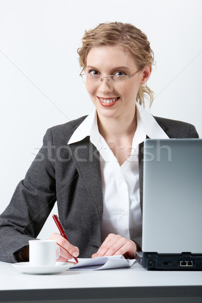 Zajęty pracodawca obraz młodych udany Zdjęcia stock © pressmaster