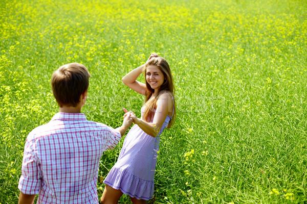 Couple in the field Stock photo © pressmaster