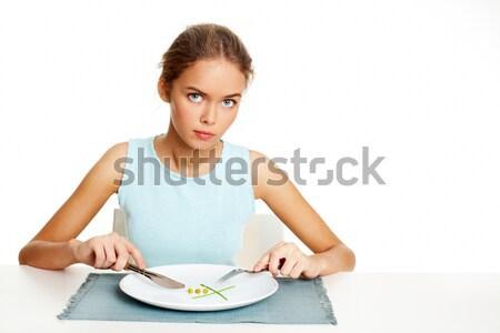 Alimentação saudável comida retrato bastante jovem pronto Foto stock © pressmaster