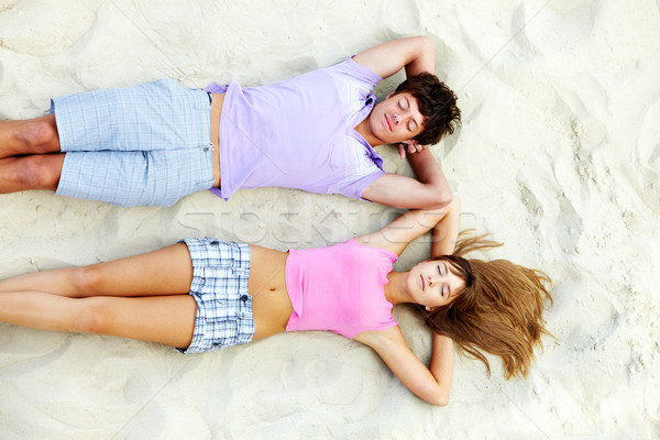 Ontspannen tieners boven hoek paar Stockfoto © pressmaster