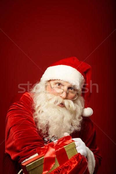 寛大な サンタクロース 肖像 幸せ 現在 ストックフォト © pressmaster