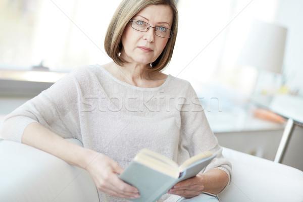 Mature reader Stock photo © pressmaster