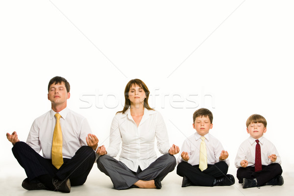 Meditating family Stock photo © pressmaster