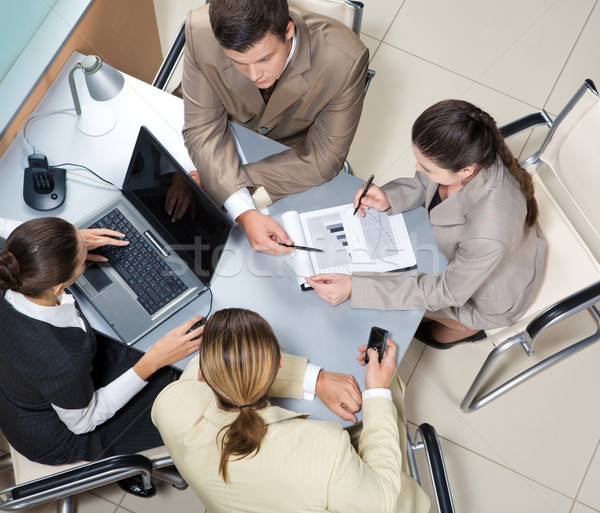 Werken team boven uitvoerende mensen Stockfoto © pressmaster