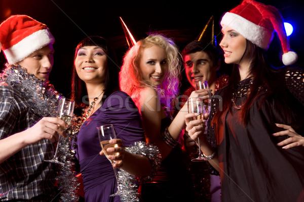 Clubbing portret moderne jongeren genieten nieuwjaar Stockfoto © pressmaster