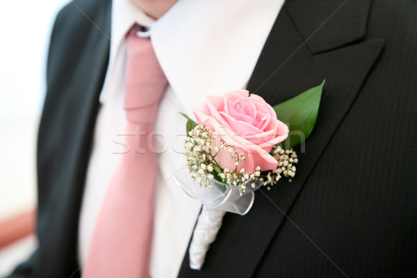 Rose on the suit  Stock photo © pressmaster