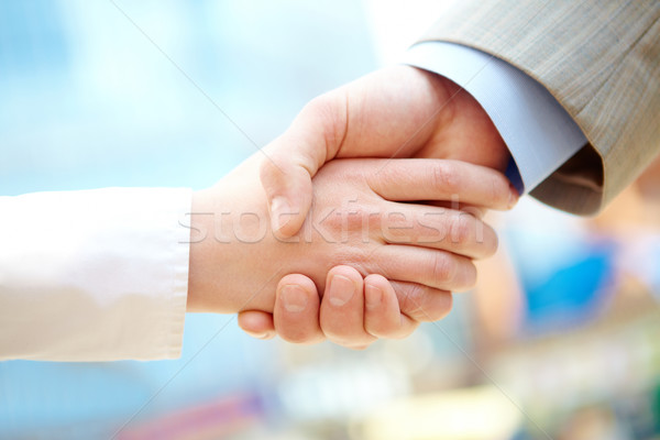 Réussi face handshake signature contrat Photo stock © pressmaster