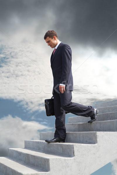 Foto d'archivio: Fallimento · immagine · triste · imprenditore · piedi · business