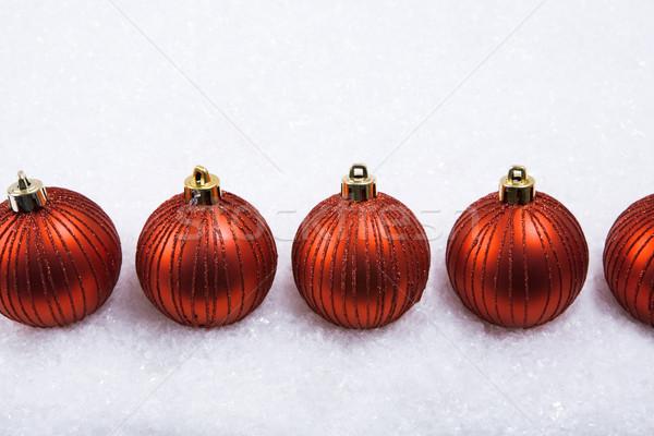 Row of toy balls Stock photo © pressmaster
