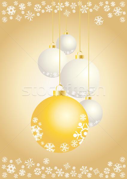 Płatki śniegu świetle projektu piłka Zdjęcia stock © pressmaster