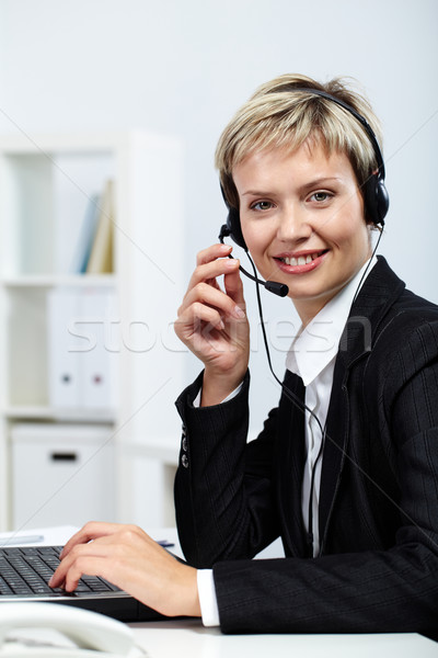 Busy and resilient secretary Stock photo © pressmaster