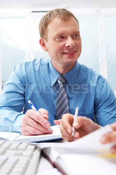 Stockfoto: Vriendelijk · portret · jonge · manager · business