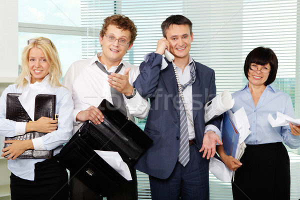 Office party carried off well Stock photo © pressmaster