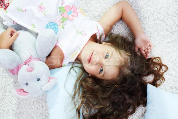 Foto stock: Inocente · nino · retrato · nina · juguete · estudio