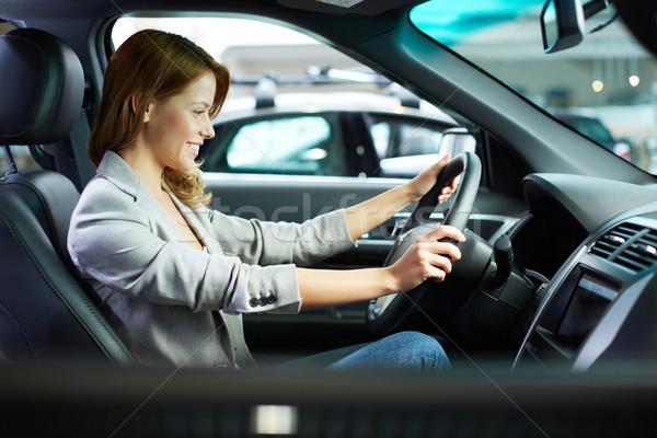 Female in new car Stock photo © pressmaster