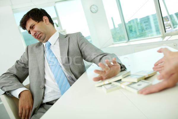Nem korrupció enyém iroda kép férfi Stock fotó © pressmaster