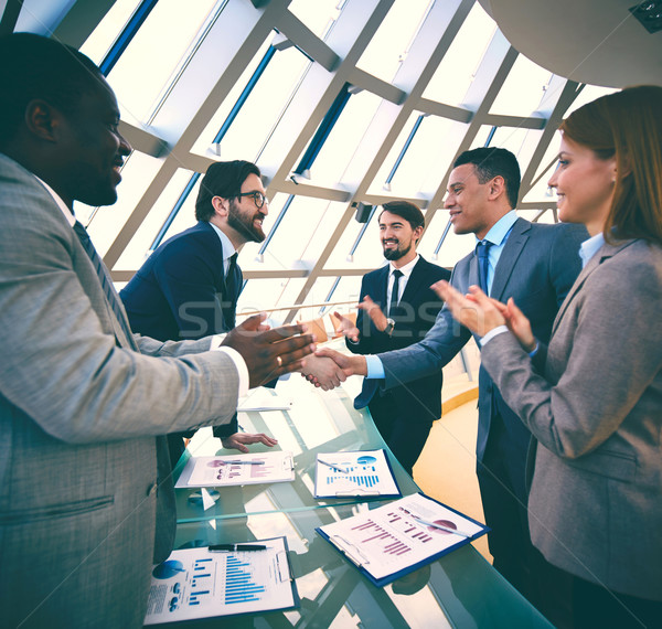 Congratulating colleagues Stock photo © pressmaster