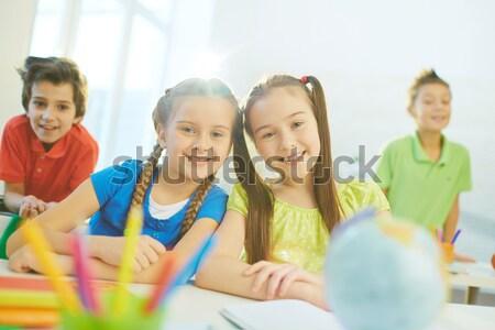 единения портрет счастливым пару сын глядя Сток-фото © pressmaster