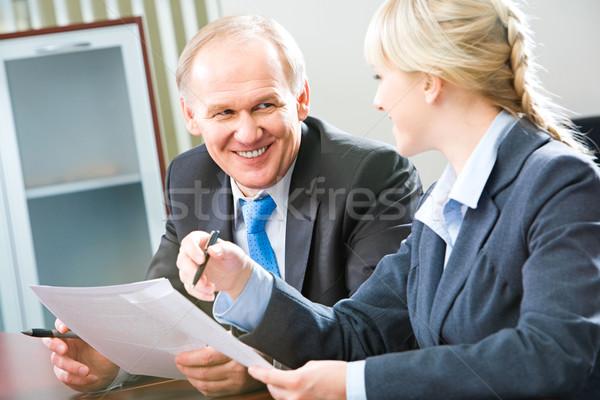 Negocios interacción imagen dos Foto stock © pressmaster