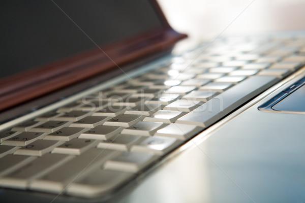 Stock fotó: Kulcsok · közelkép · laptop · billentyűzet · gombok · üzlet · számítógép