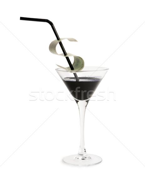 черный золото Creative изображение стакан мартини полный Сток-фото © pressmaster