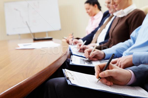Działalności planowania ludzi biznesu ludzi mężczyzna kobiet Zdjęcia stock © pressmaster