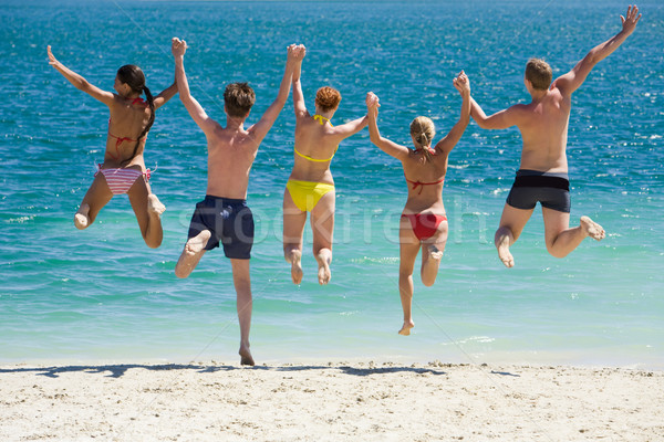 Jump into the lake    Stock photo © pressmaster