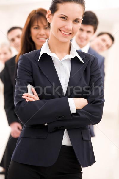 Empleador retrato exitoso mujer de negocios mirando cámara Foto stock © pressmaster