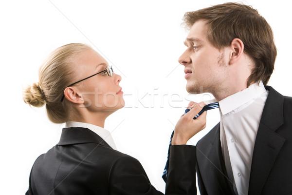 Conflitto immagine donna d'affari business uomo Foto d'archivio © pressmaster