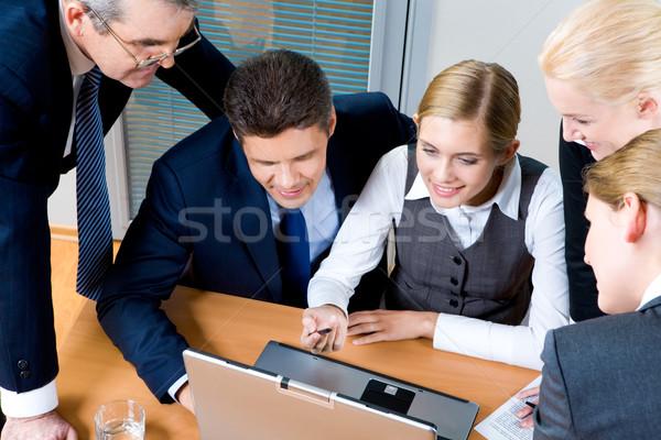 ストックフォト: グループ · 作業 · 表示 · 成功した