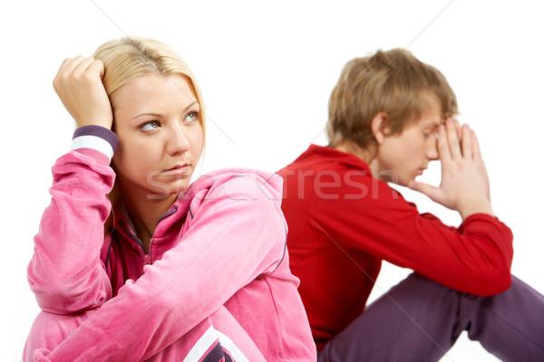 けんか 画像 悲しい 少女 混乱 男 ストックフォト © pressmaster