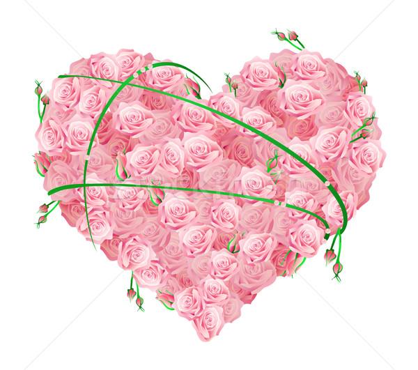 Dev kalp çiçek gül soyut arka plan Stok fotoğraf © pressmaster