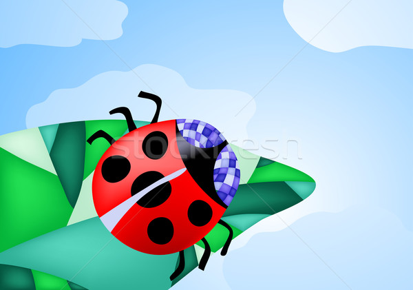 ladybug-on-a-leaf Stock photo © pressmaster