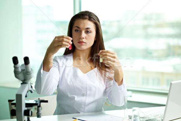 Comparing substances Stock photo © pressmaster