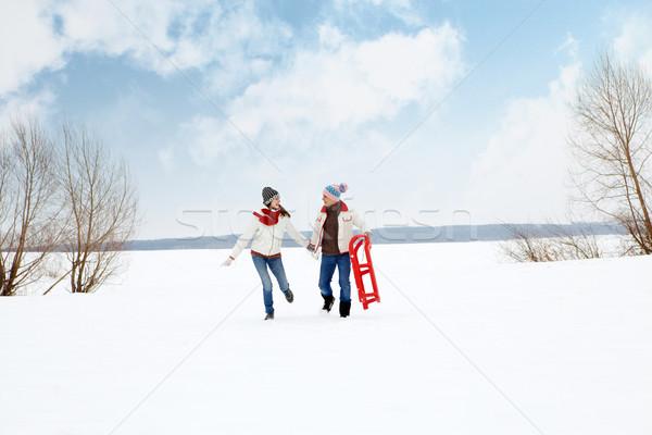 Couple running  Stock photo © pressmaster