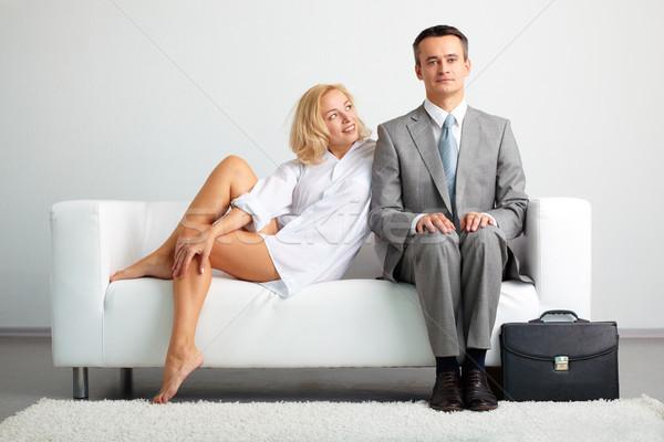 флиртовать женщину глядя серьезный бизнесмен оба Сток-фото © pressmaster