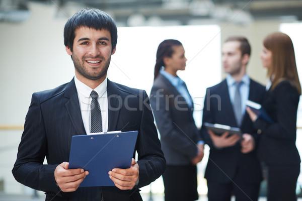 Imprenditore documento ritratto amichevole maschio leader Foto d'archivio © pressmaster
