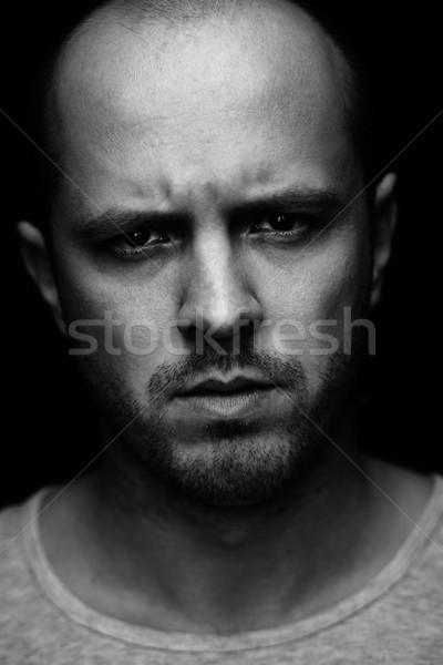 垂直 肖像 男 見える カメラ 小さな ストックフォト © pressmaster