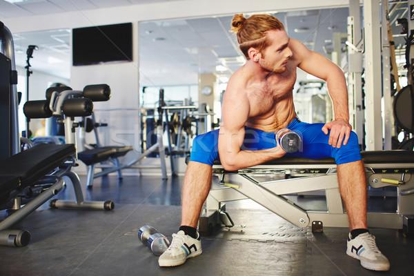 Foto stock: Ejercicio · joven · hombre · deporte · fitness