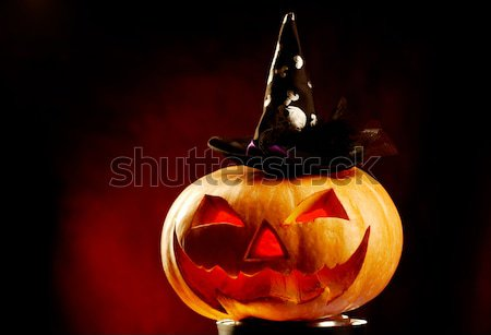 Pumpkin with hat Stock photo © pressmaster