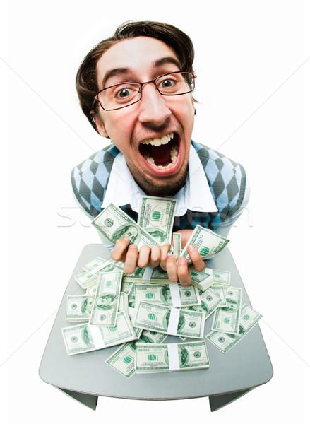 Ganancioso homem retrato rico americano dólares Foto stock © pressmaster