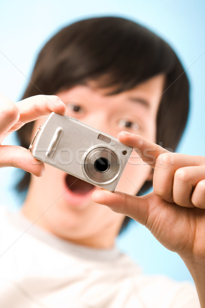 Fantastico snapshot immagine foto fotocamera sorpreso Foto d'archivio © pressmaster