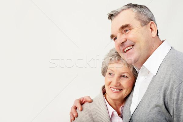 Stock fotó: Felnőtt · pár · portré · férfi · átkarol · feleség